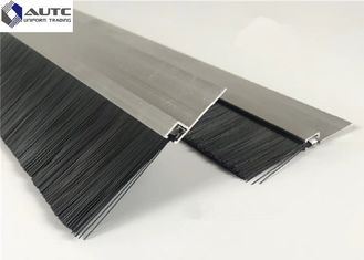 China Draft Seal Metal Channel Strip Brushes Bottom Window Door Stainless Steel supplier