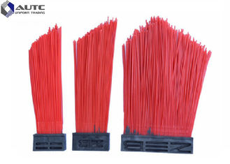 PP Wire Strip Road Sweeper Brushes , Bolck Road Cleaning Brush Durable