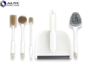 Bathroom 6 Housekeeping Brushes Set  Eco Friendly Cup Dish Washing OEM
