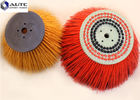 China Dust Door Street Sweeper Replacement Brushes , Large Sweeping Brush Blue Yellow factory