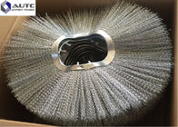 China Galvanized Base Iron Road Sweeper Brush , Replacement Brushes For Road Sweepers factory