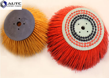 China Dust Door Street Sweeper Replacement Brushes , Large Sweeping Brush Blue Yellow distributor