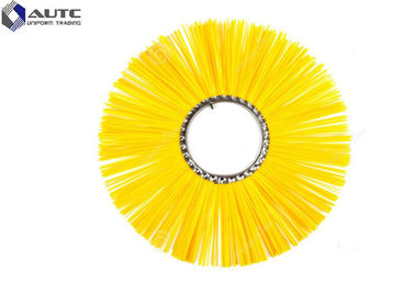 China Flat Style Sweeper Road Cleaning Brush , Industrial Snow Brush PP Nylon Steel factory