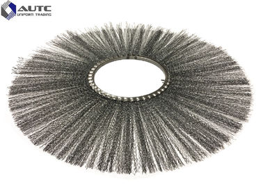 China Flat Style Steel Wire Snow Sweeper Brush Rotary Flat Ring Farms Runways factory
