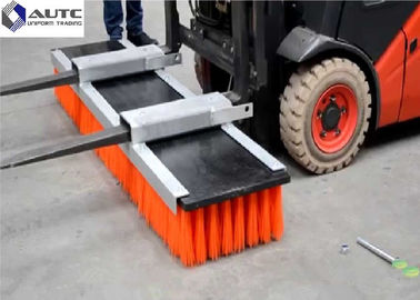 China Floor Forklift Brush Sweeper Industrial Warehouses High Density Easy Installation distributor