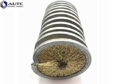 China Cylinder Coil Metal Rods Spring Brush Stainless Steel Base Abrasive Filament distributor
