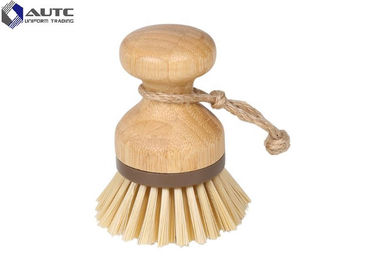 China Natural Bamboo Housekeeping Brushes For Pot Sink Kitchen Cleaning Scrubber factory