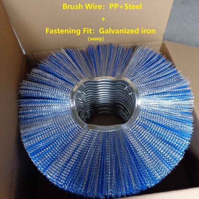 Galvanized Base Iron Road Sweeper Brush , Replacement Brushes For Road Sweepers