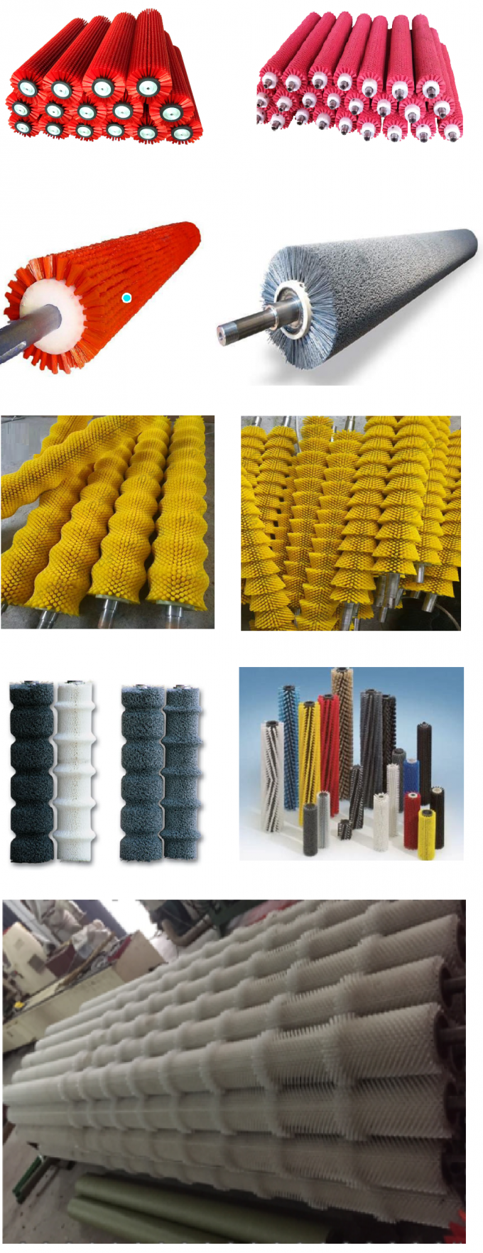 Durable Fruit Vegetable Cylindrical Wire Brush , Cylinder Wire Brush Multifunction