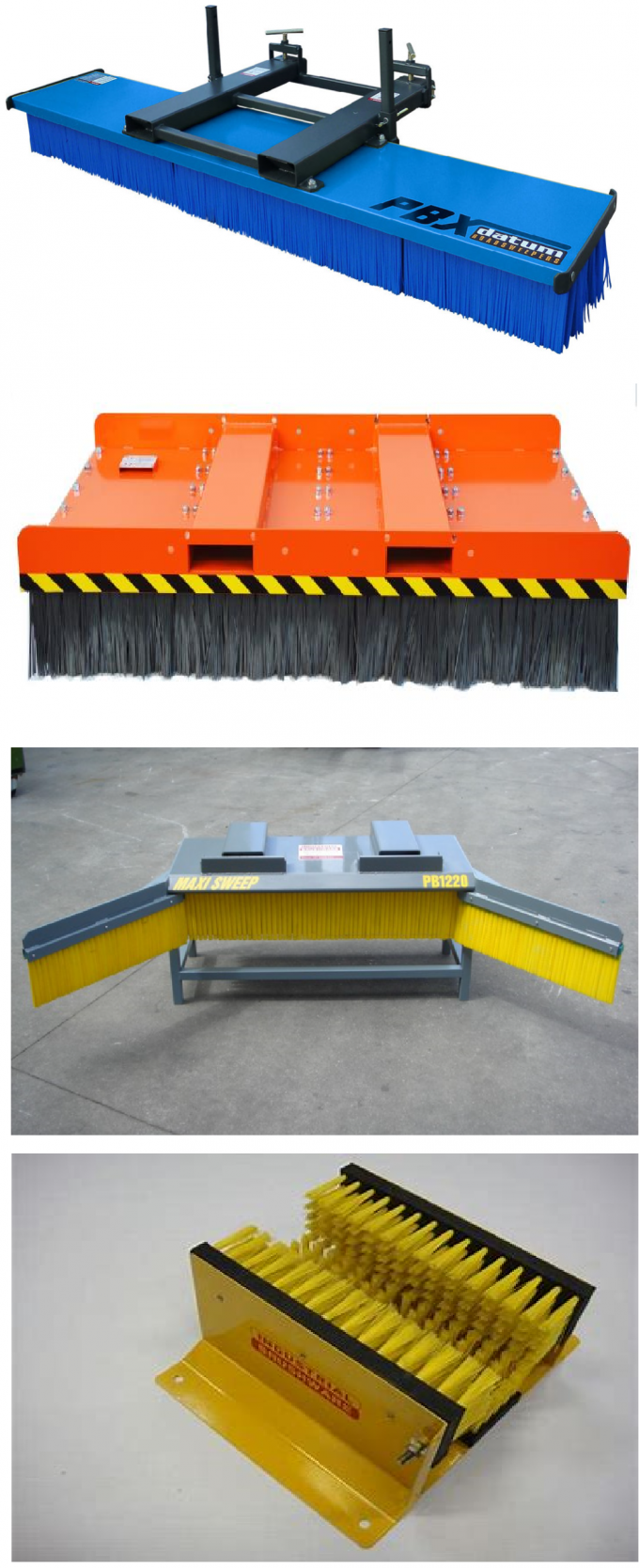 PVC Base Forklift Brush Sweeper Yellow Red Black Customized Filament OEM