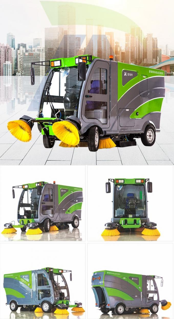 PP Mix Road Sweeper Brush Eco - Friendly Magnetic Battery Grass Push Rotary Cleaning