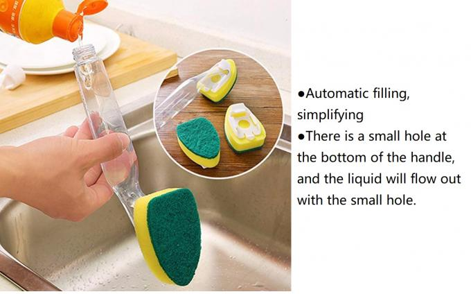 Dishwashing Sponge Housekeeping Brushes Dish Wand Plastic Decontamination